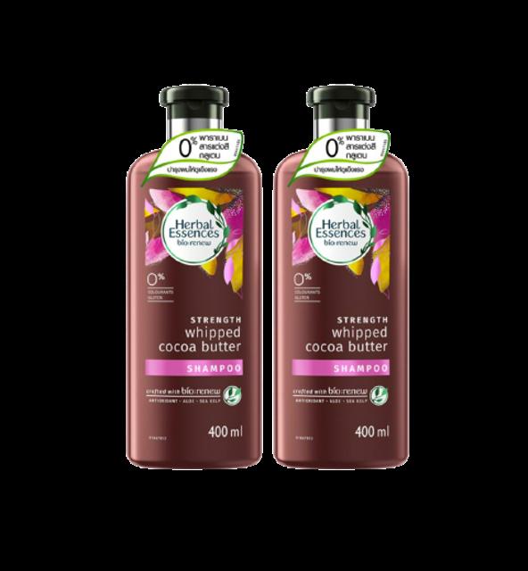Herbal Essences bio:renew ผลิตภัณฑ์ PETA #CrueltyFree STRENGTH Whipped Cocoa Butter Shampoo 1