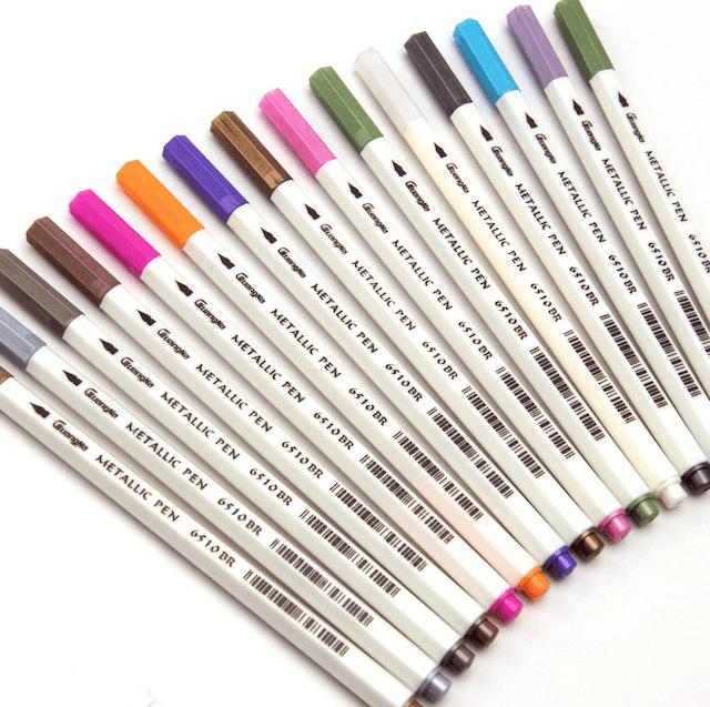 Cuangna  10x Metallic Pencil Set Marker Album Sketch Water Color Marker Brush Pen 1