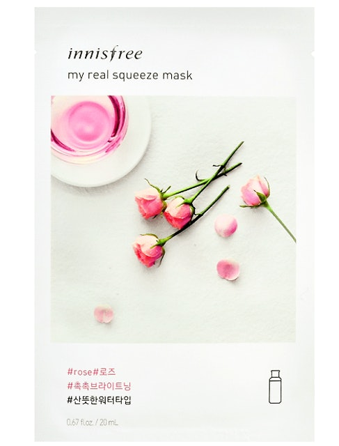 innisfree  my real squeeze mask-rose  1