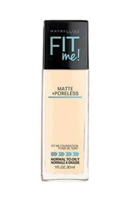 MAYBELLINE NEW YORK  FIT ME MATTE AND PORELESS LIQUID FOUNDATION    1