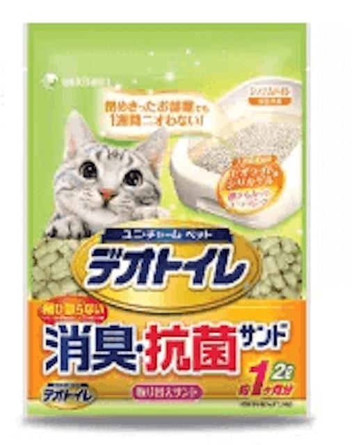 Unicharm Pet  ทรายแมวลดกลิ้น Deo Toilet 1