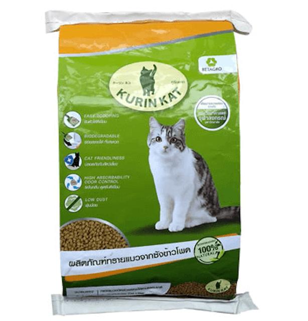 Kurin Kat ผลิตภัณฑ์ทรายแมวจากซังข้าวโพด 1