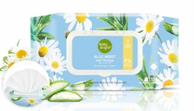 Baby Bright Aloe Moist Wet Tissue 1