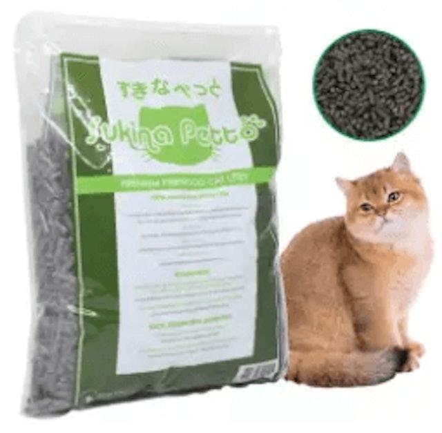Sukina Petto ทรายแมวเปลือกไม้สน สูตรคาร์บอนดูดกลิ่น 1
