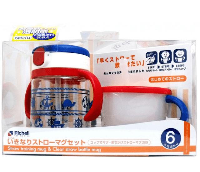 Richell เซตถ้วยหลอดดูดกันสำลักและถ้วยฝึกดูด 1