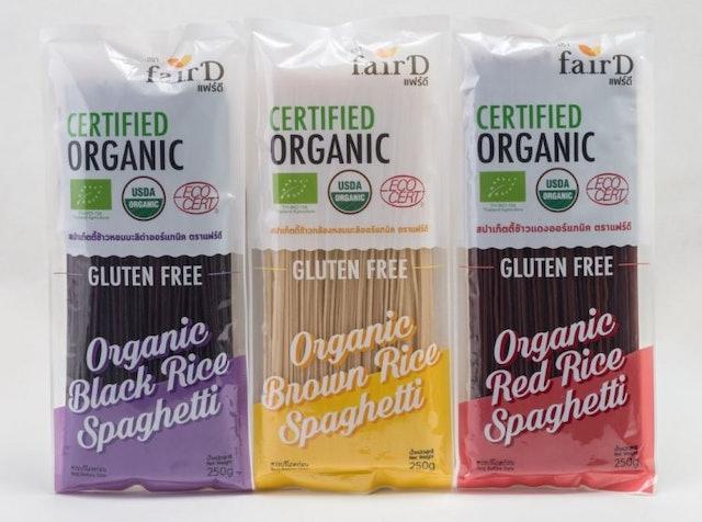 FairD  Gluten Free Organic 100% Thai Rice Spaghetti 250 g x 3 Pack 1