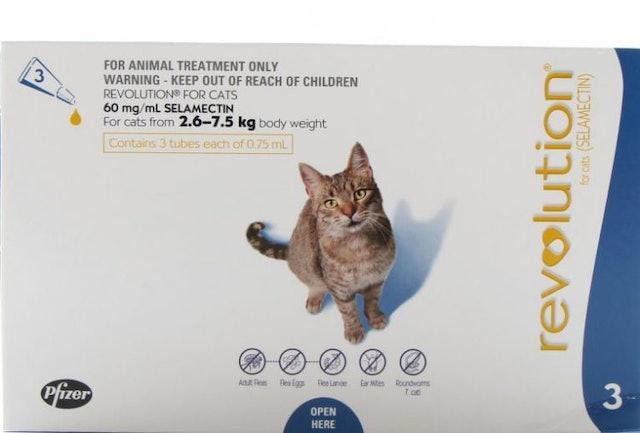 Revolution ยาหยดกำจัดเห็บหมัด สำหรับแมว 1