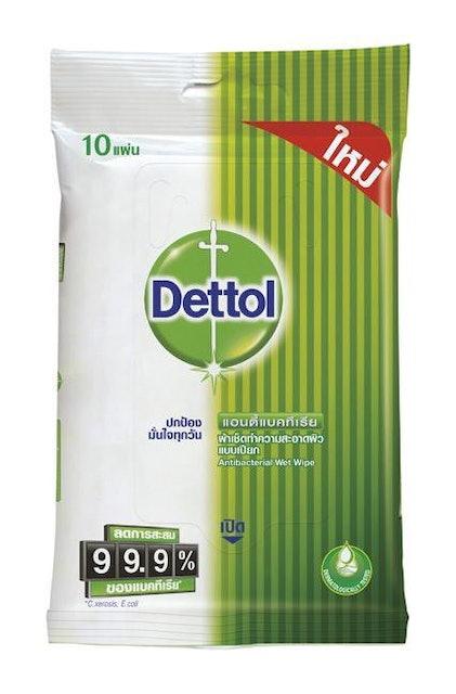 Dettol  ผ้าเช็ดทำความสะอาดผิวแบบเปียก 1