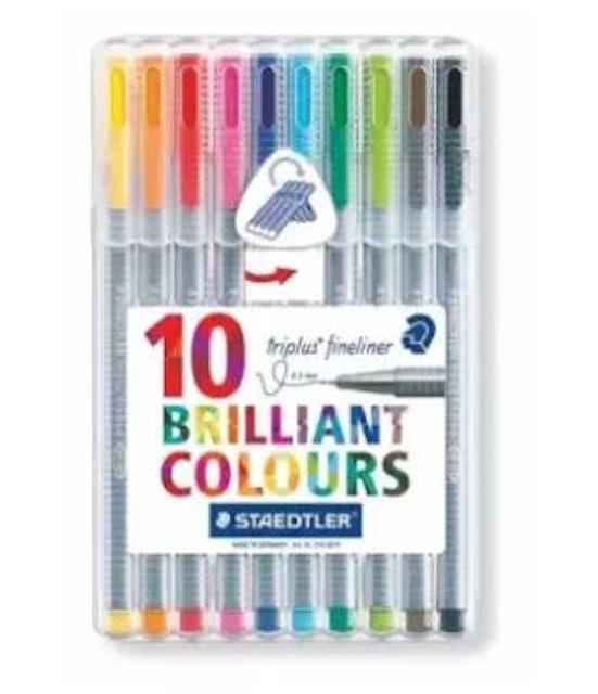 STAEDTLER Triplus Fineliner 10 Brilliant Colors 1