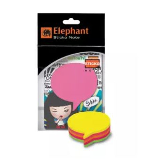 Elephant  กระดาษโน้ตกาวในตัว ไดคัทรูปคอลเอาท์  1