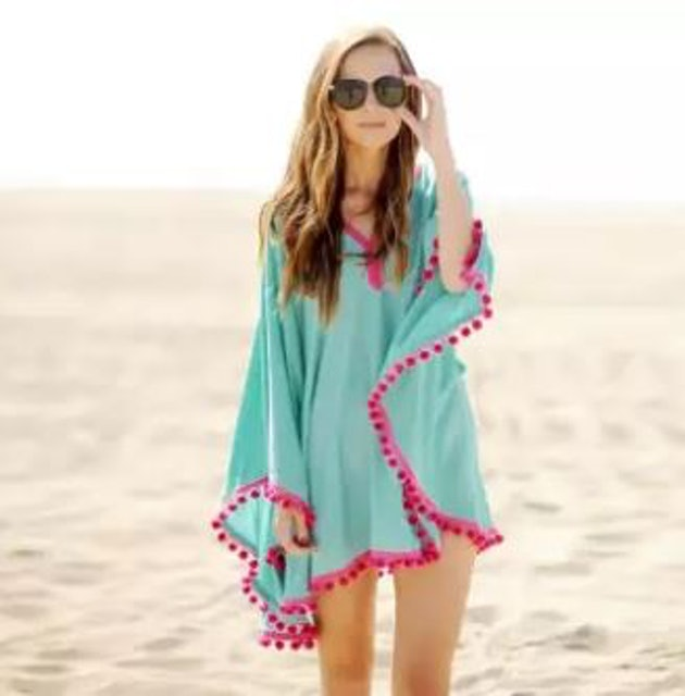 No Brand เสื้อคลุม Tassels Beachwear 1