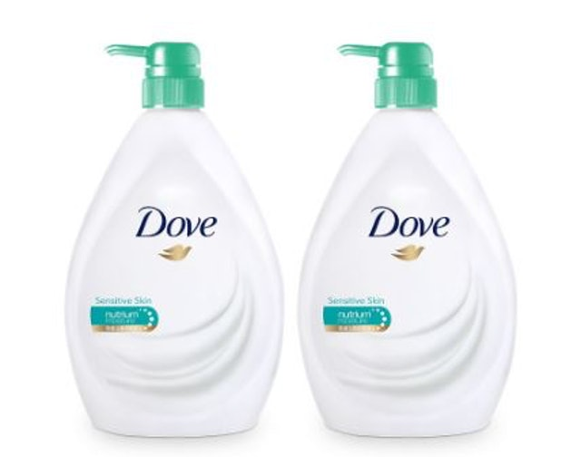 Dove Liquid Soap Sensitive Skin Body Wash (2 ขวด) 1