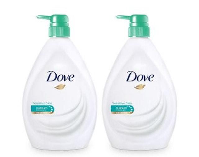 Dove Liquid Soap Sensitive Skin Body Wash (2 ขวด) 1