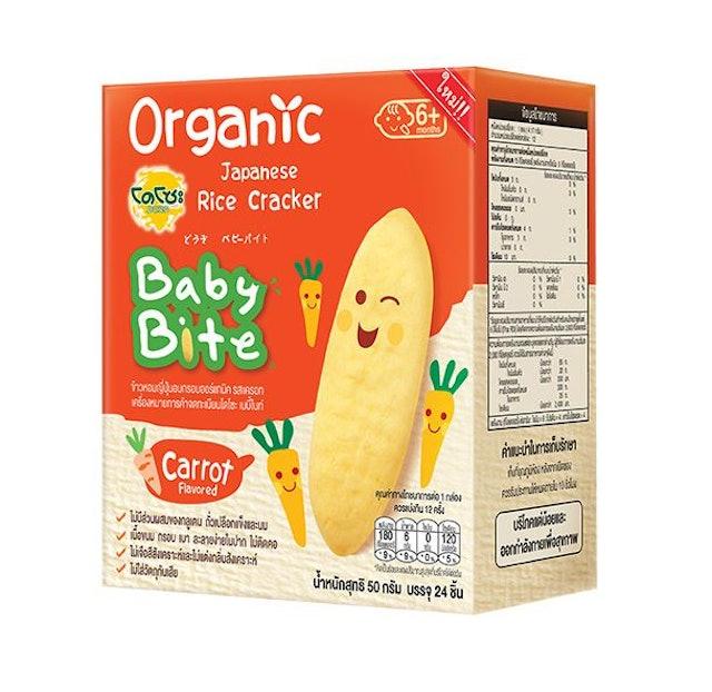 DOZO Baby Bite ข้าวหอมญี่ปุ่นอบกรอบออร์แกนิค รสแครอท 1