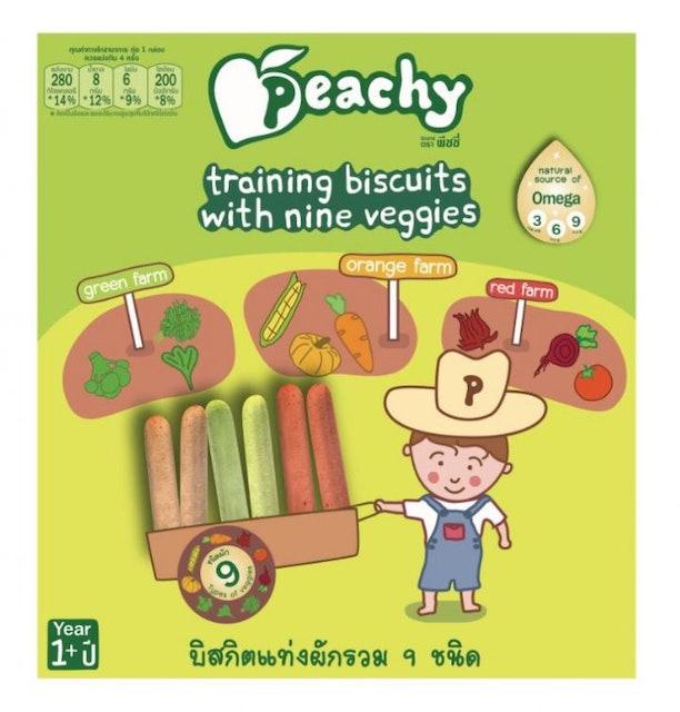 Peachy Biscuits บิสกิตแท่งผักรวม 9 ชนิด 1