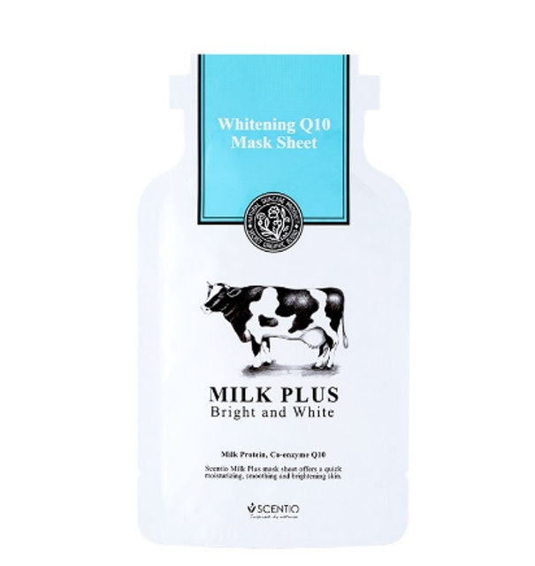 SCENTIO MILK PLUS WHITENING Q10 MASK SHEET 1