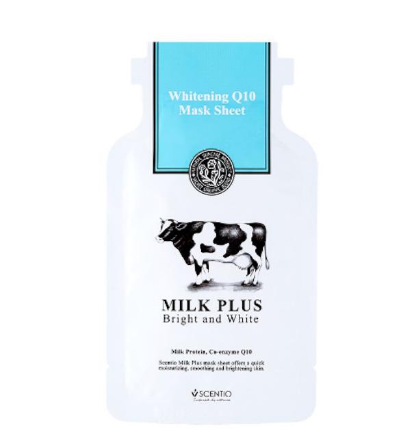 SCENTIO MILK PLUS WHITENING Q10 MASK SHEET 1