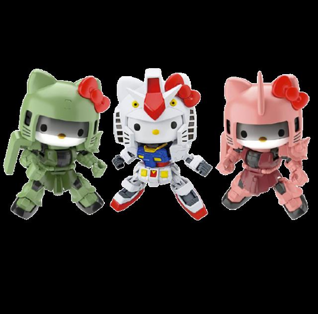 Bandai โมเดล Hello Kitty x Gundam 1