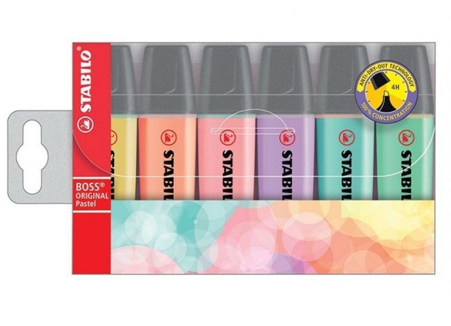 Stabilo Boss Original ปากกาเน้นข้อความ Pastel Highlighters 1