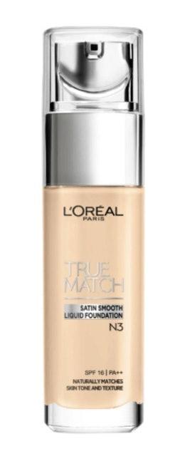 L'OREAL True Match Satin Smooth Liquid Foundation #N3 1