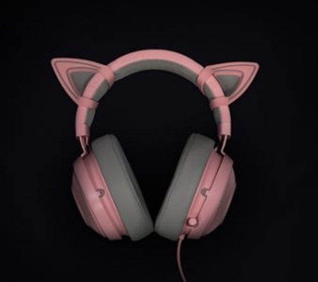 RAZER Kraken Quartz Pink + Kitty Ears 1