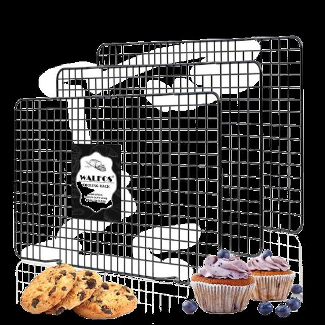 WALFOS อุปกรณ์ทำคัพเค้ก ตะแกรงสเตนเลสพักขนม 1