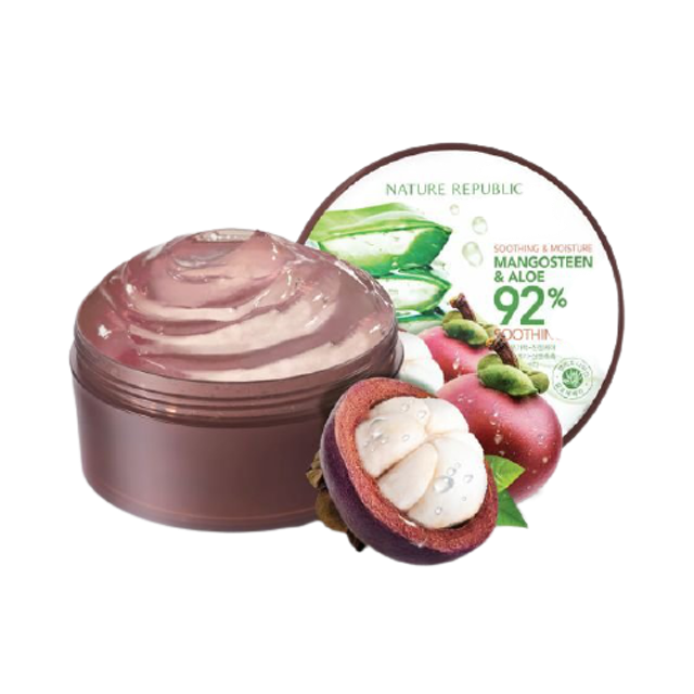 Nature Republic สกินแคร์สำหรับผิวมัน Soothing & Moisture Aloe Mangosteen 92% Soothing Gel  1