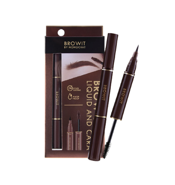 Browit BY NONGCHAT ดินสอเขียนคิ้ว Brow Salon Liquid and Cara  1