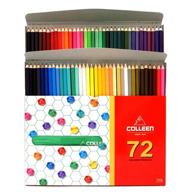 Colleen ดินสอสีไม้   คลอรีน 72 แท่ง 72 สีรุ่น775 + คลอรีน 12 แท่ง 12 สีรุ่น NEON  รุ่น775N 1