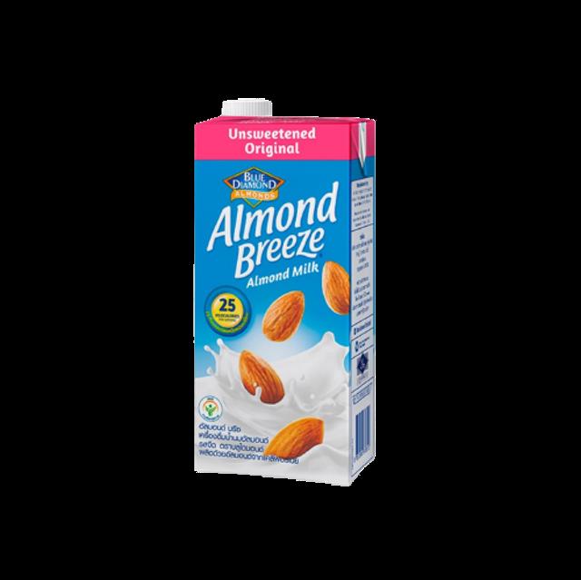 Blue Diamond เครื่องดื่มเพื่อสุขภาพ Almond breeze Unsweetened Original Almond Milk 1