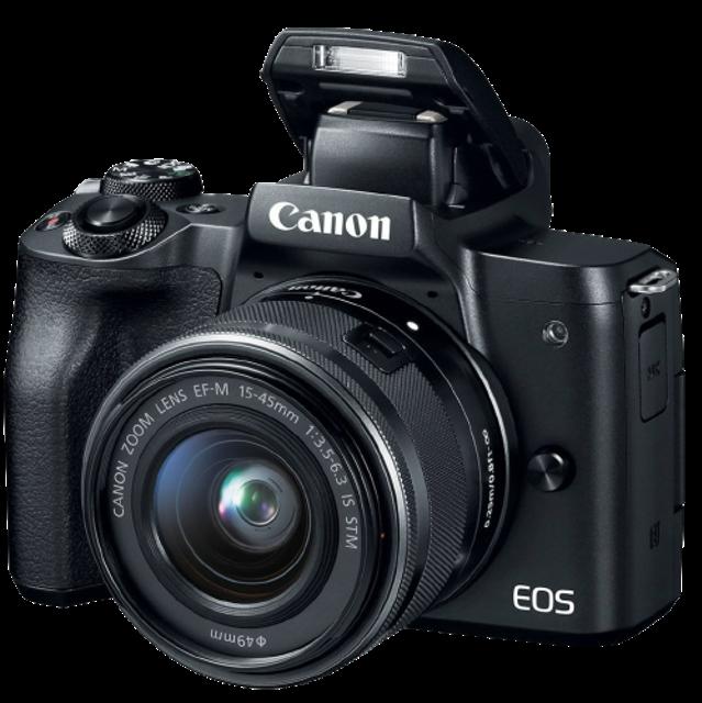 Canon อุปกรณ์สำหรับถ่ายภาพกลางคืน กล้อง Mirrorless EOS M50 Kit 15-45mm 1
