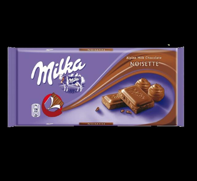 Milka ช็อกโกแลต Noisette 1