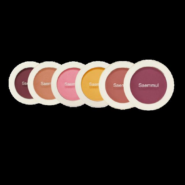 Saemmul บลัชออน สีชมพู Single Blusher PK09 Pastel Rosy 1