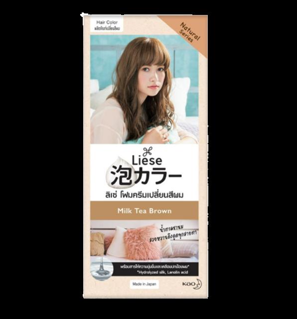 Liese  ผลิตภัณฑ์ ย้อมสีผมด้วยตัวเอง โฟมเปลี่ยนสีผม Bubble Color Milk Tea Brown 1