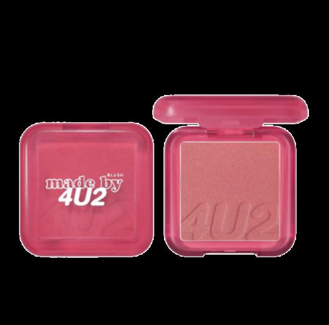 4U2 ผลิตภัณฑ์ PETA #CrueltyFree Shimmer Blush On #S78 Mad Love 1