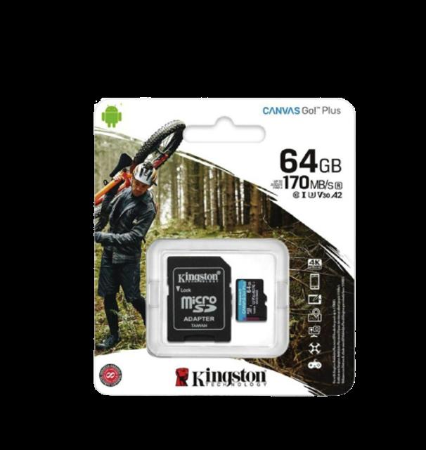 Kingston MicroSD Card Canvas Go! Plus 1