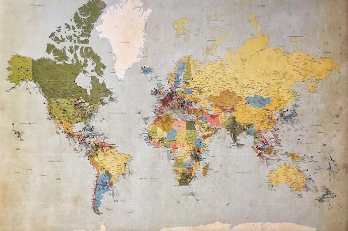 เลือกแผนที่โลกจากข้อมูลที่ต้องการทราบ