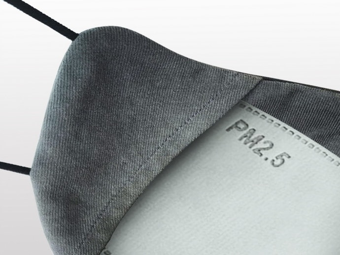 หน้ากากผ้าเสริมแผ่นกรอง เพื่อป้องกันหรือดักจับฝุ่นละอองขนาดเล็ก