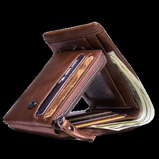 กระเป๋าสตางค์แบบพับ 3 ทบ : ขนาดกะทัดรัด ใส่ของได้ปริมาณมาก