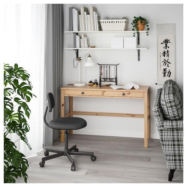โต๊ะทำงาน : มักมาพร้อมลิ้นชักสำหรับเก็บเอกสารหรือแล็ปท็อป