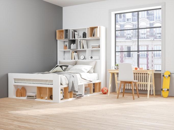 เลือกเตียงที่สามารถเก็บของได้
