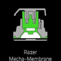 สวิตช์กลไกแบบยาง (Razer Mechanical Membrane Switch) : ให้ความรู้สึกที่นุ่มนวลในการใช้งาน