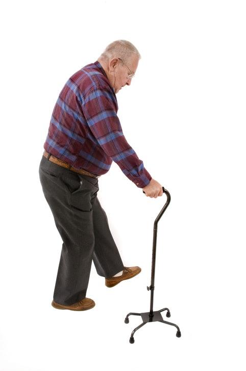ไม้เท้าฐานกว้าง สำหรับใช้งานในบ้านหรือในอาคาร