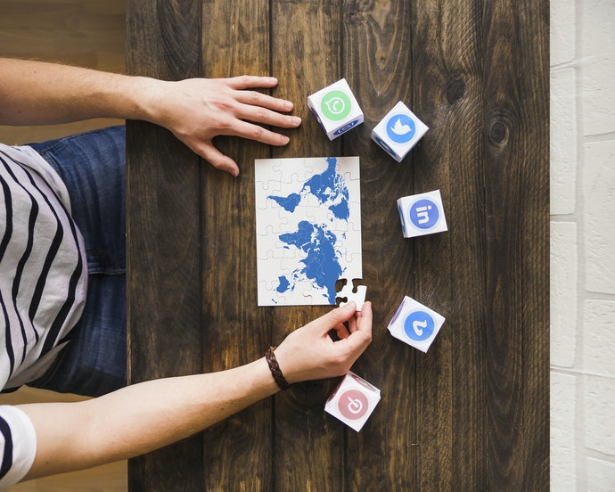 แผนที่โลกรูปบบจิ๊กซอว์