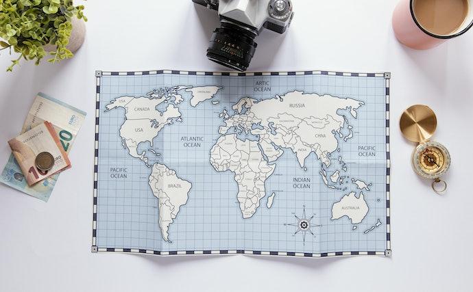 แผนที่โลกรูปแบบโปสเตอร์