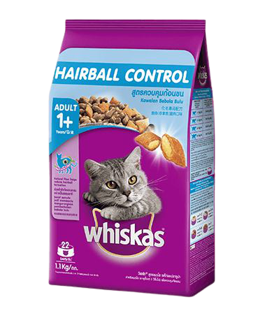 เลือกอาหารแมววิสกัส สูตร Hairball Control สำหรับแมวขนยาว