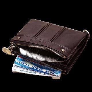 กระเป๋าสตางค์แบบซิปรูด : ดีไซน์เรียบง่าย ป้องกันเหรียญหล่น