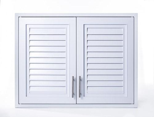 หากเป็นตู้กับข้าวประตูบานเกล็ด ควรมีมุ้งลวดป้องกันแมลง