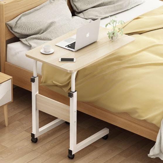 โต๊ะข้างเตียง เลื่อนเก็บได้ใช้งานได้หลากหลาย