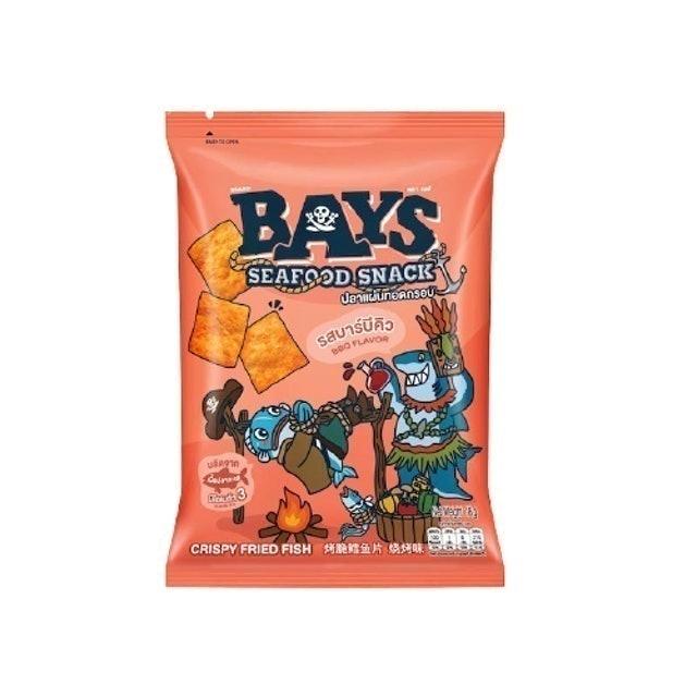 Bays Seafood Snack ปลาแผ่นทอดกรอบ รสบาร์บีคิว 1